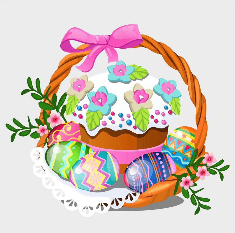 Normal Easter Basket clipart png