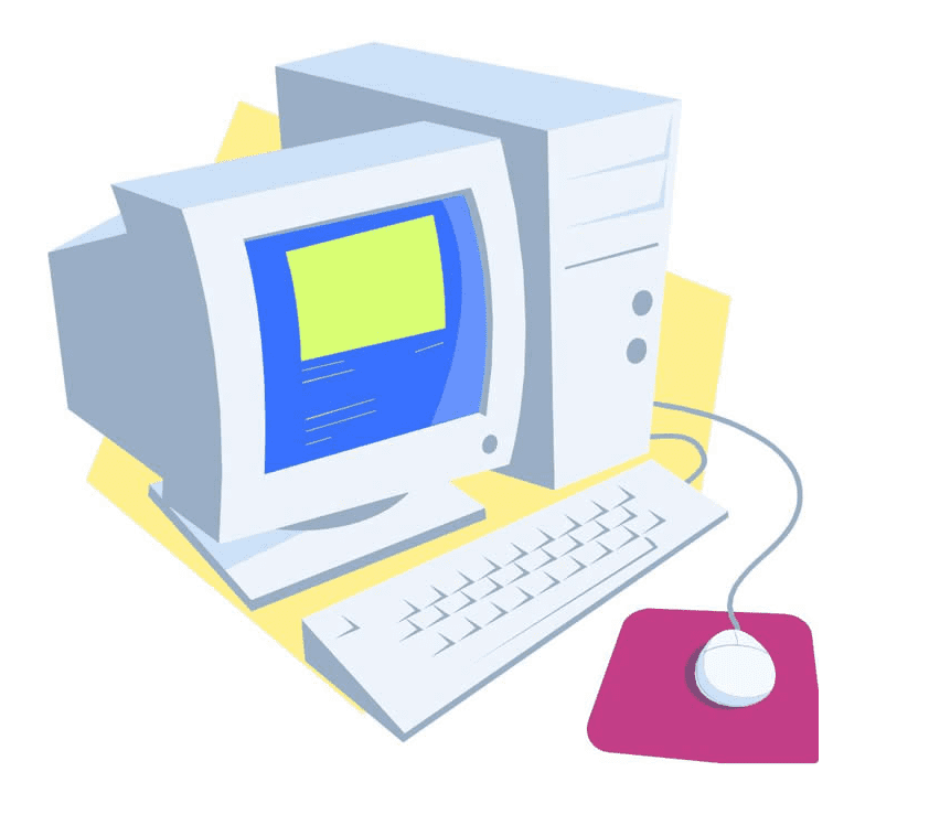 Old Computer clipart free