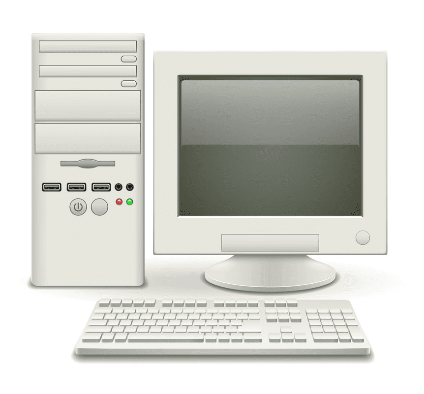 Old Computer clipart image