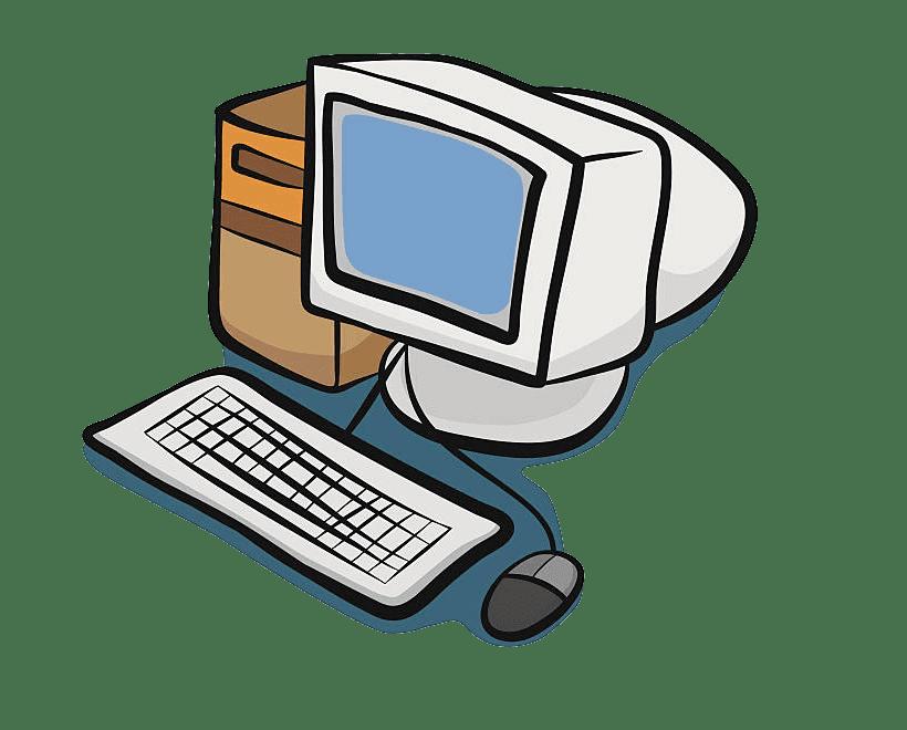 Old Computer clipart transparent