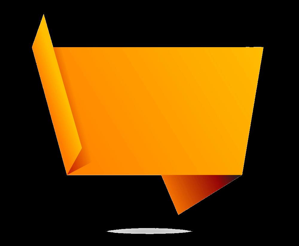 Orange Banner clipart transparent