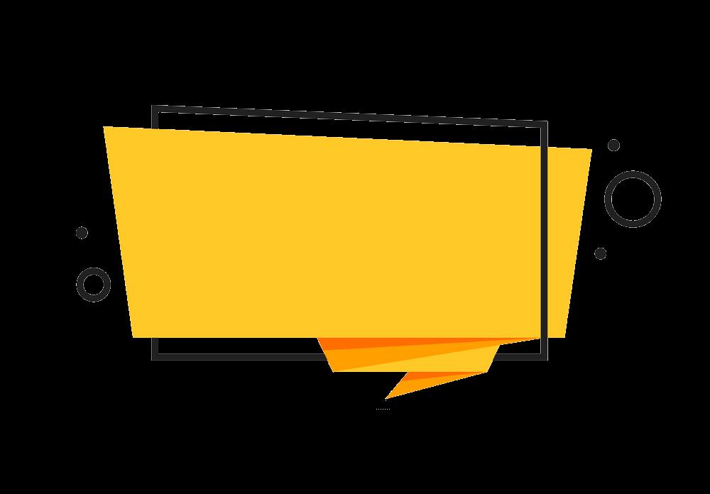 Origami Banner clipart transparent