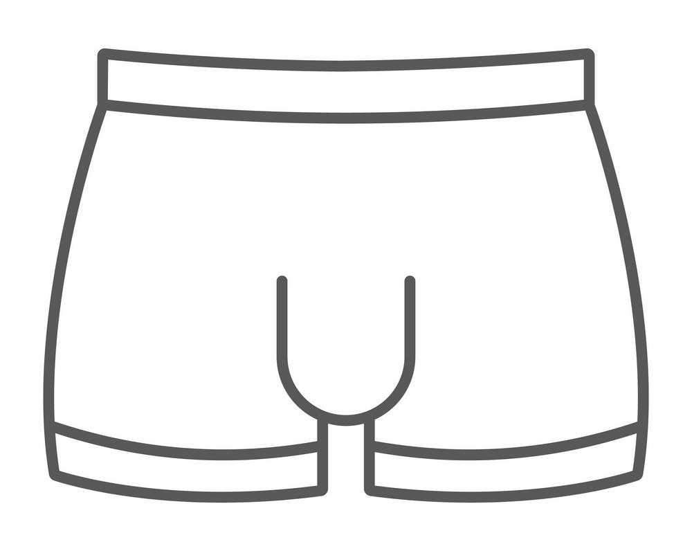 Outline Underwear clipart