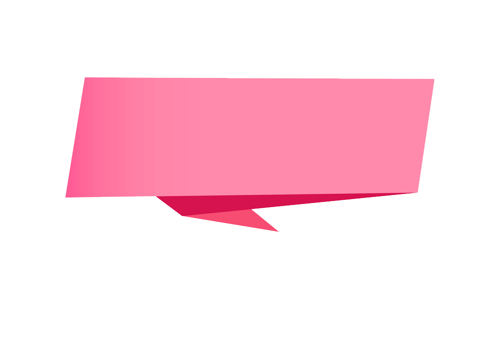 Pink Banner clipart transparent