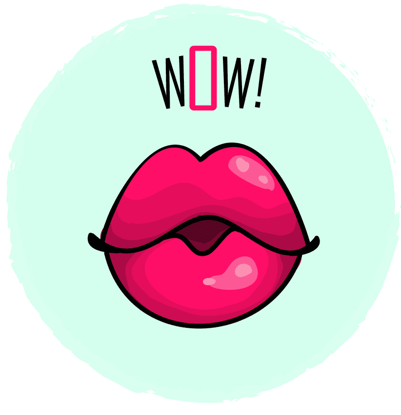 Pink Lips clipart 2