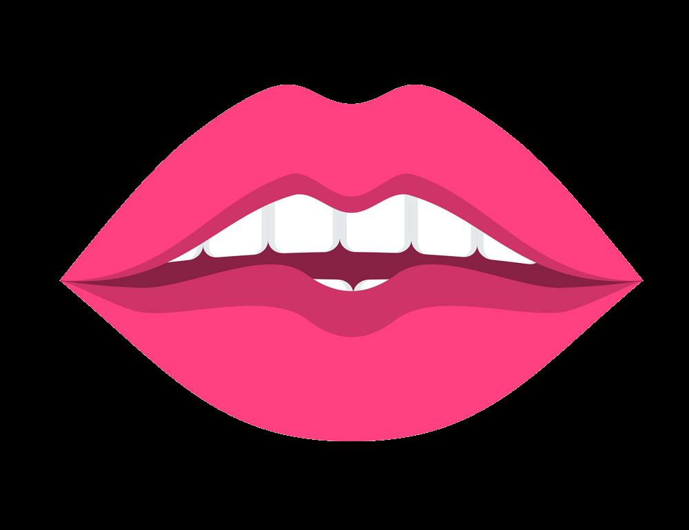 Pink Lips clipart transparent