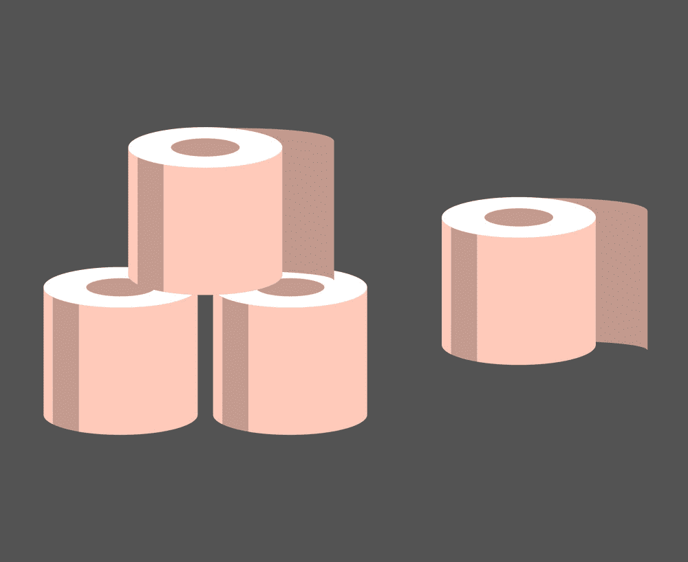 Pink Toilet Paper clipart