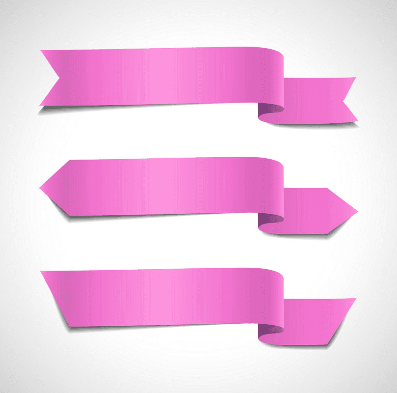Pinks Banners clipart