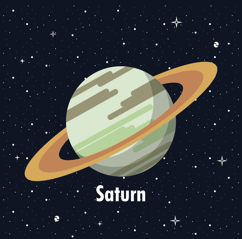 Planet Saturn clipart 1