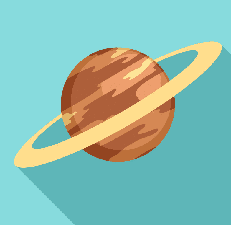 Planet Saturn clipart 2