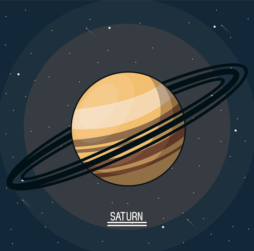 Planet Saturn clipart 3