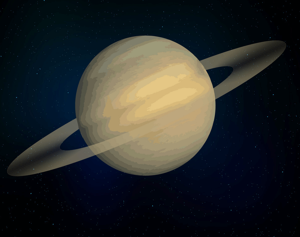 Planet Saturn clipart free