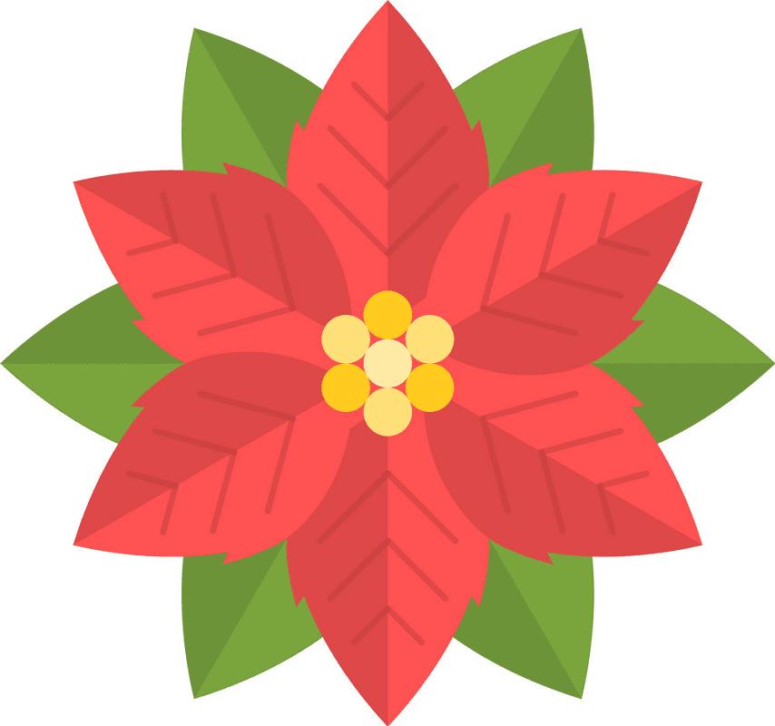Poinsettia Clipart