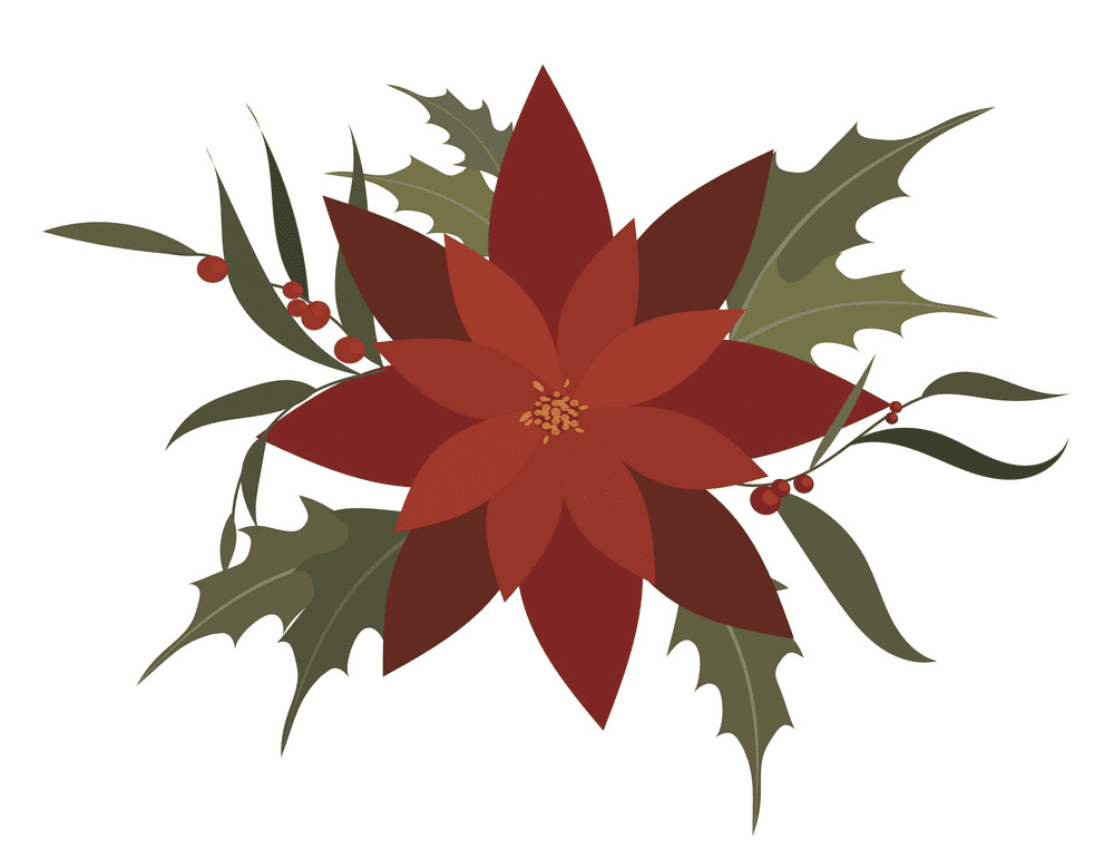 Poinsettia Flower clipart png