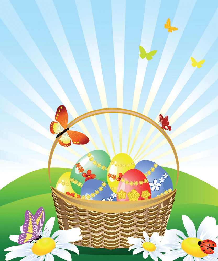 Pretty Easter Basket clipart png