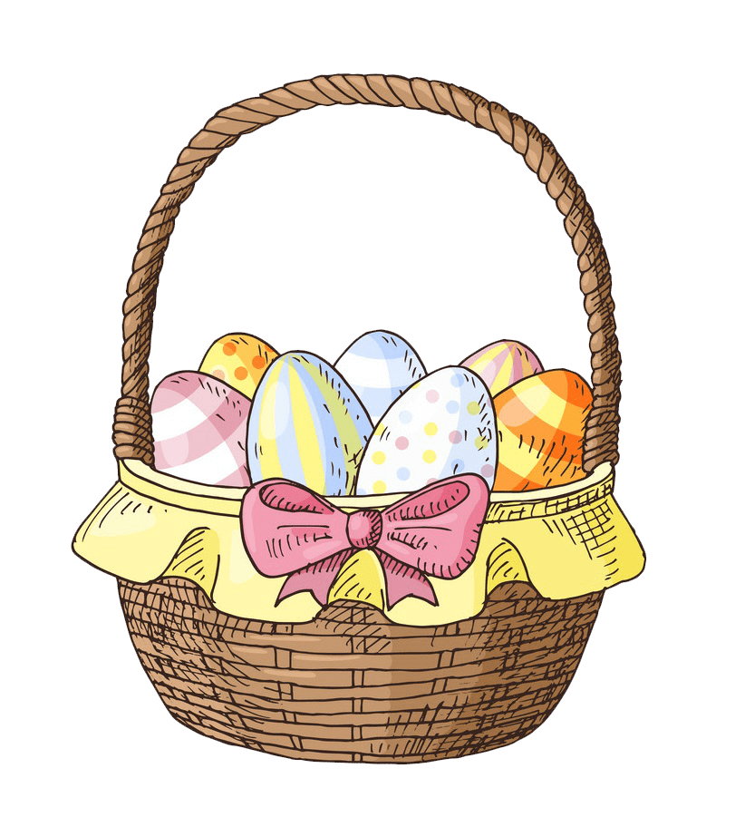 Pretty Easter Basket clipart transparent