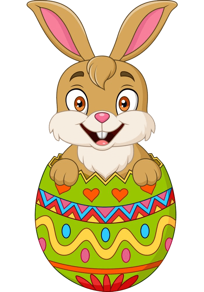 Pretty Easter Rabbit clipart transparent