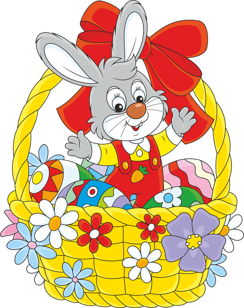 Pretty Easter Rabbit clipart
