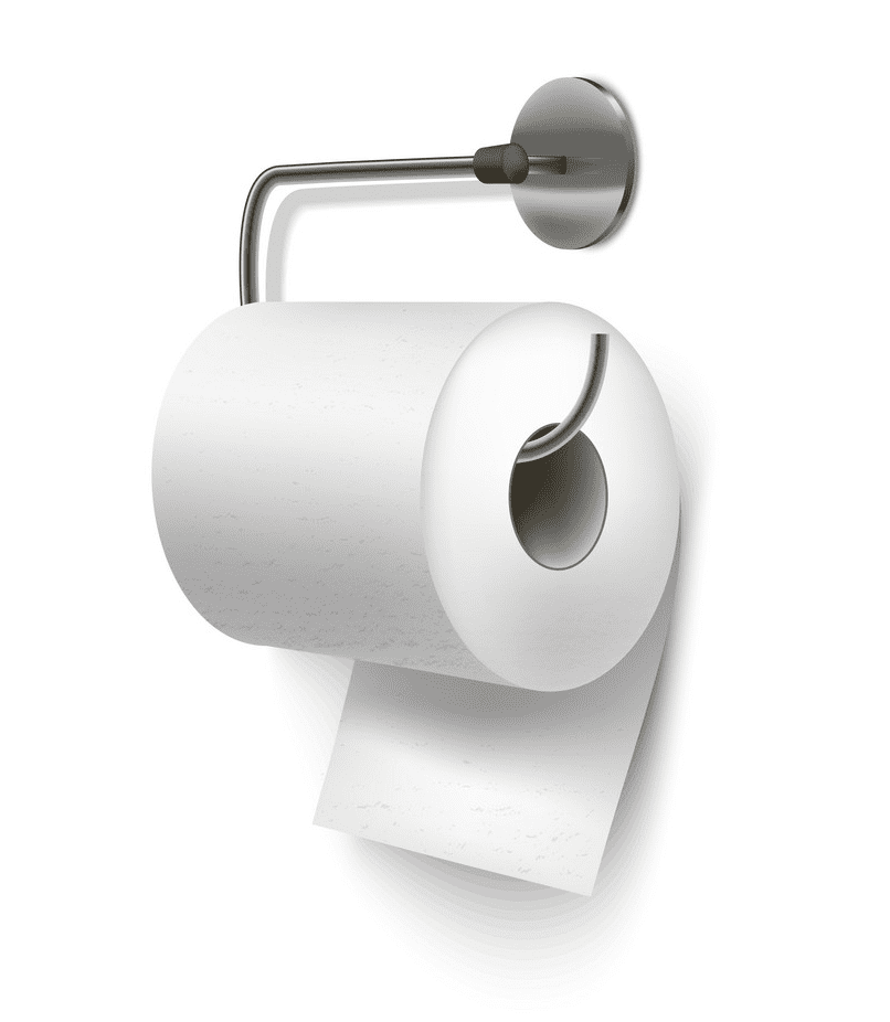 Realistic Toilet Paper clipart