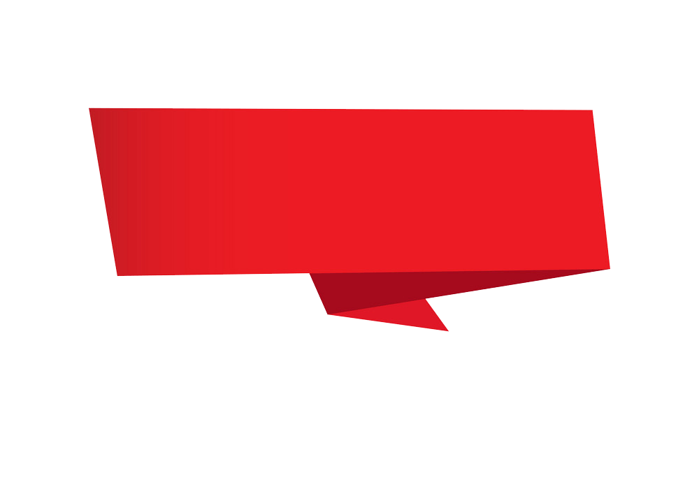 Red Banner clipart transparent