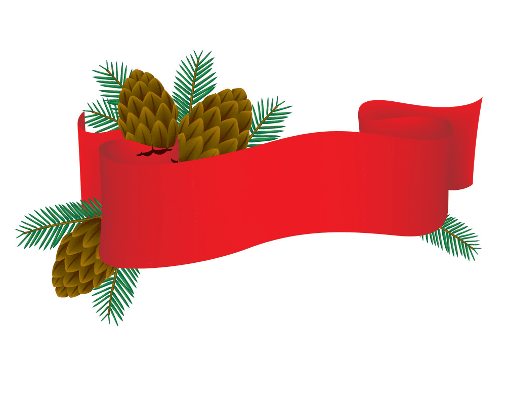 Red Christmas Banner clipart