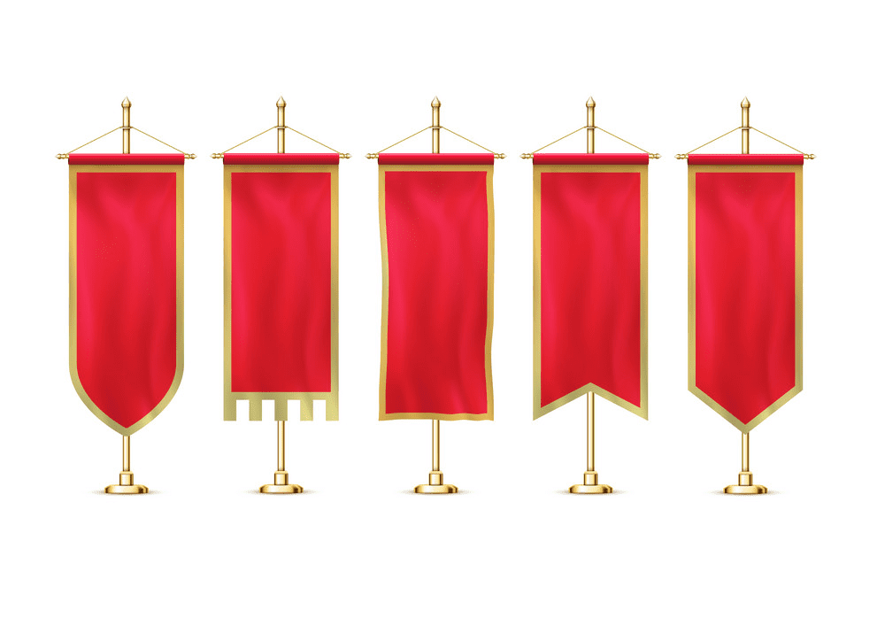 Red Flag Banners clipart