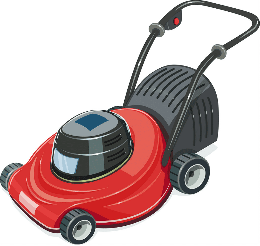 Red Lawn Mower clipart 1