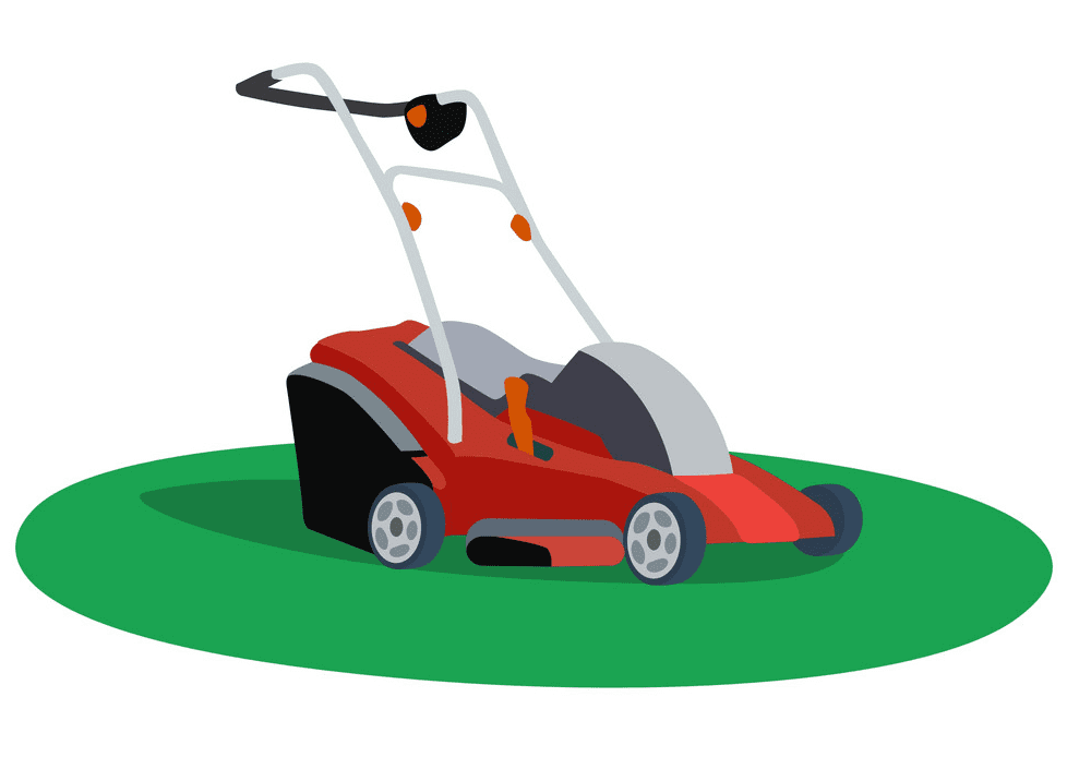 Red Lawn Mower clipart free
