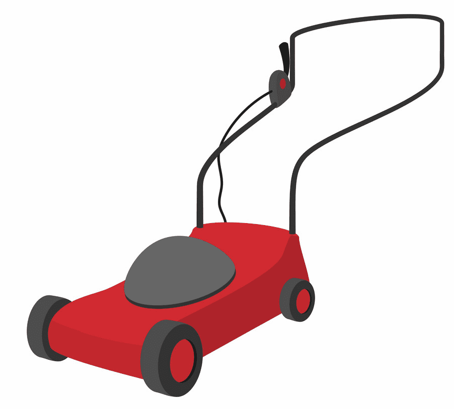 Red Lawn Mower clipart png