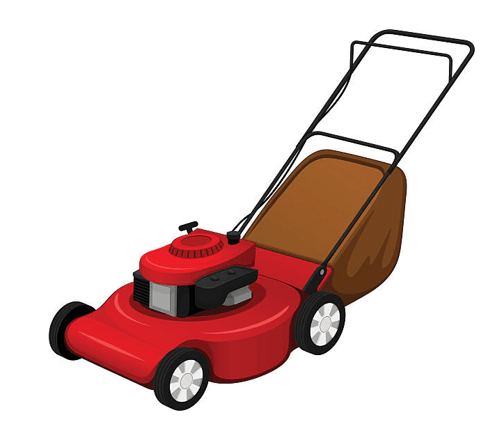 Red Lawn Mower clipart