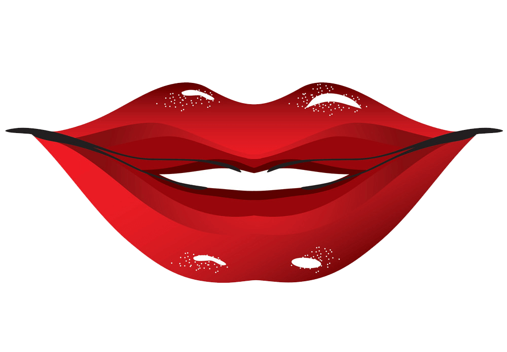 Red Lips clipart transparent 1