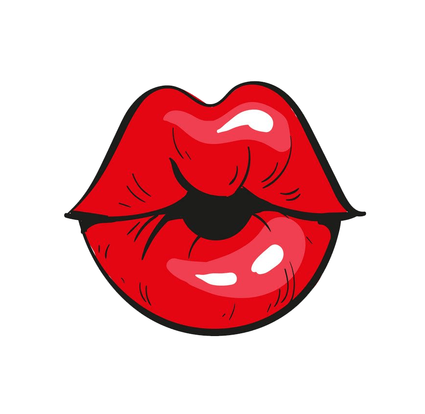 Red Lips clipart transparent 2