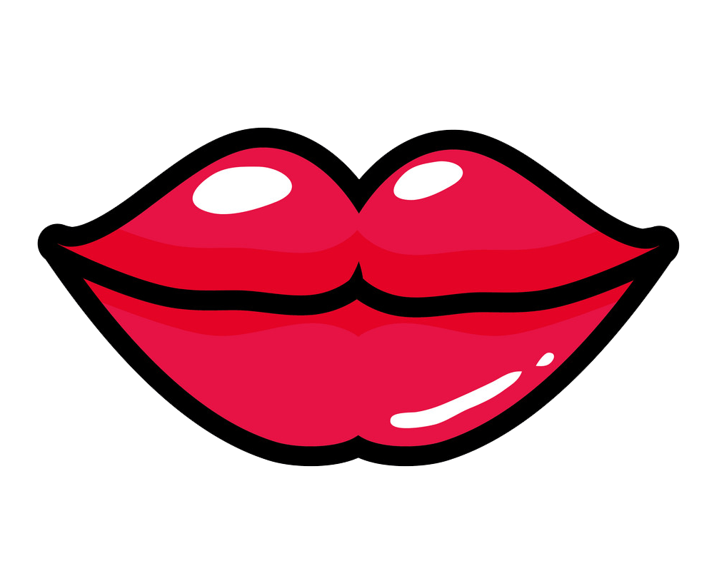 Red Lips clipart transparent