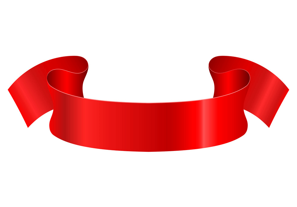Red Ribbon Banner clipart free