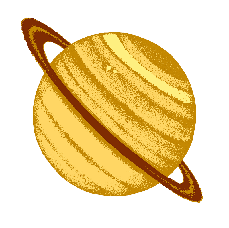 Saturn Planet clipart transparent 1