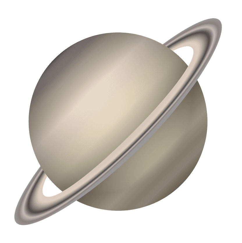 Saturn Planet clipart transparent