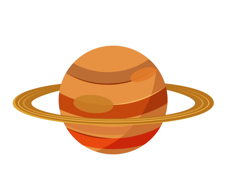 Saturn clipart transparent background