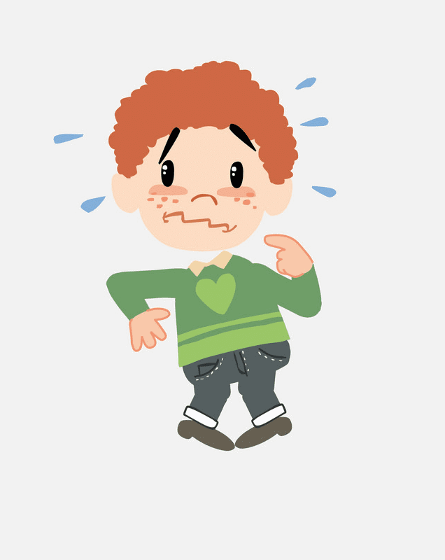 Scared Boy clipart 1