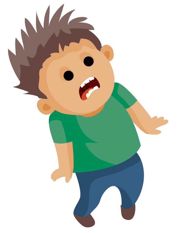 Scared Boy clipart 2