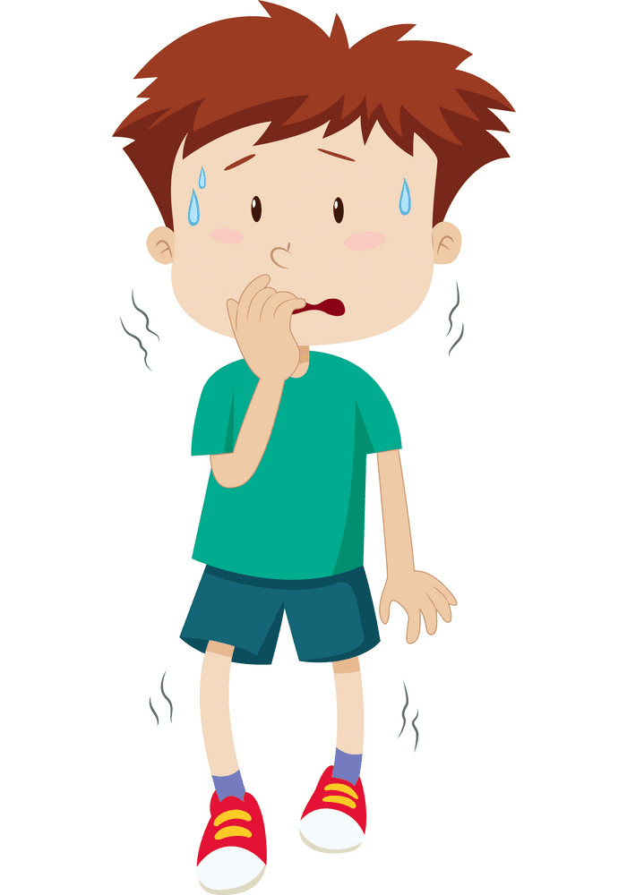 Scared Boy clipart free