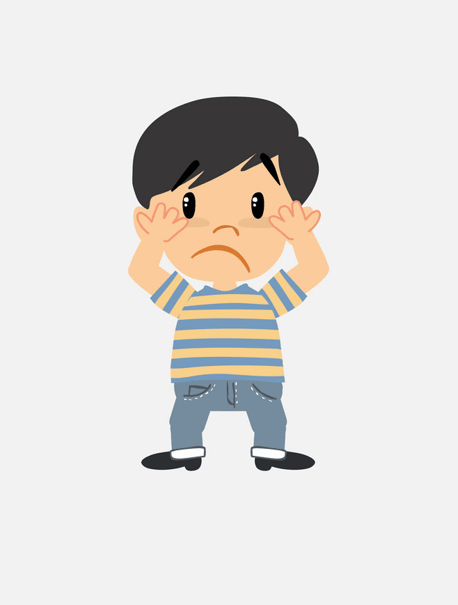 Scared Boy clipart png