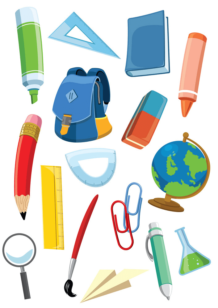 School Supplies clipart png