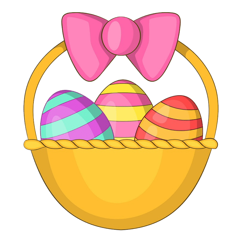 Simple Easter Basket clipart transparent