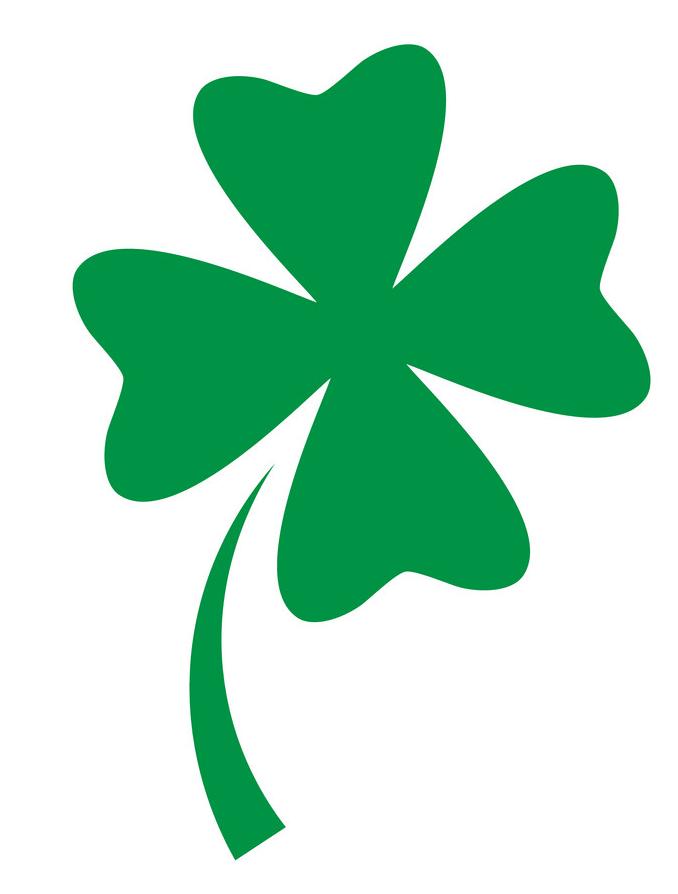 Simple Four Leaf Clover clipart