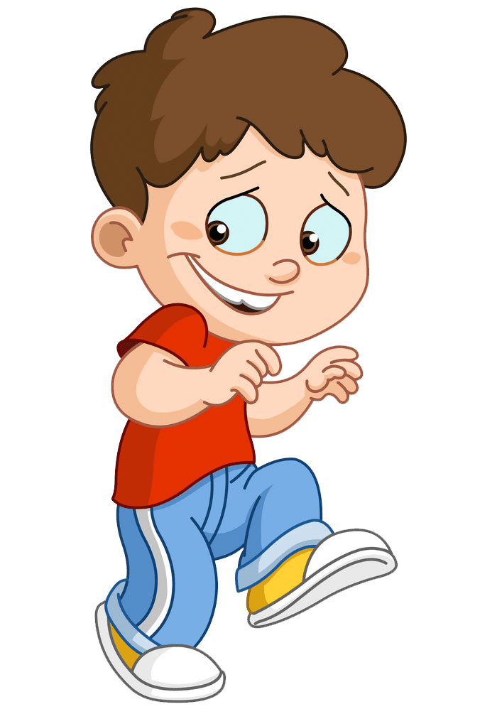 Sneaking Boy clipart transparent