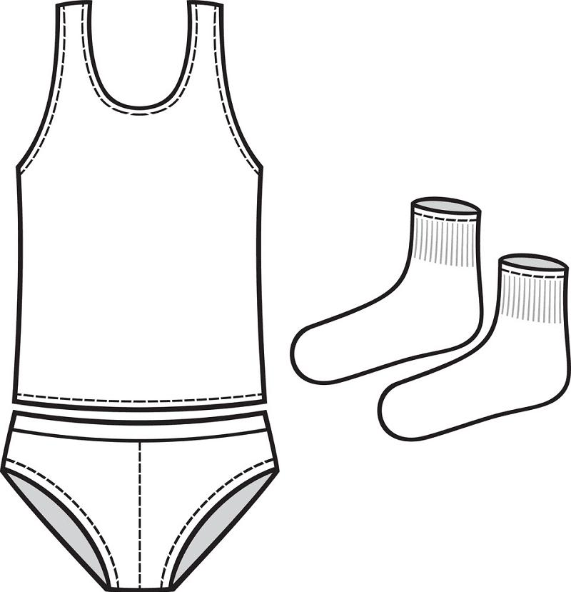 Socks and Underwear clipart 1