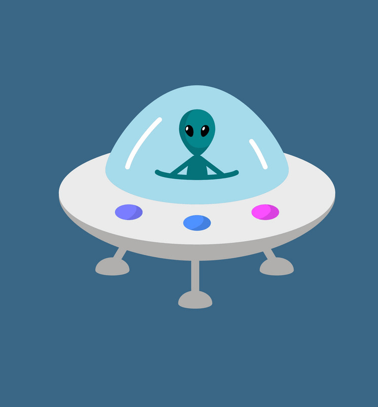 Space Alien clipart free