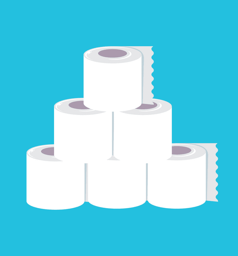 Stack Toilet Paper clipart