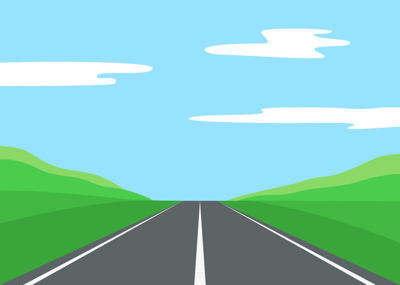 Straight Road clipart 3