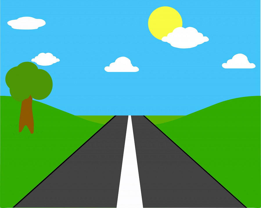 Straight Road clipart 4